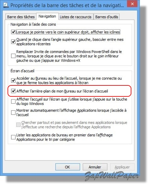 Tutoriel windows 8 1 afficher l arri re plan de votre - Arriere plan de bureau windows gratuit ...